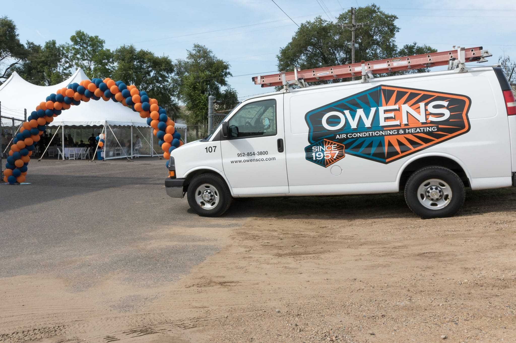 Photo of Owens Truck at an Owens Employee Party