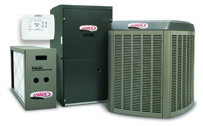 A picture of new Lennox HVAC equipment