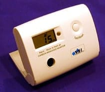 A picture of a carbon monoxide detector