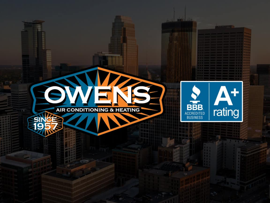 The Owens logo next to the BBB A+ rated logo