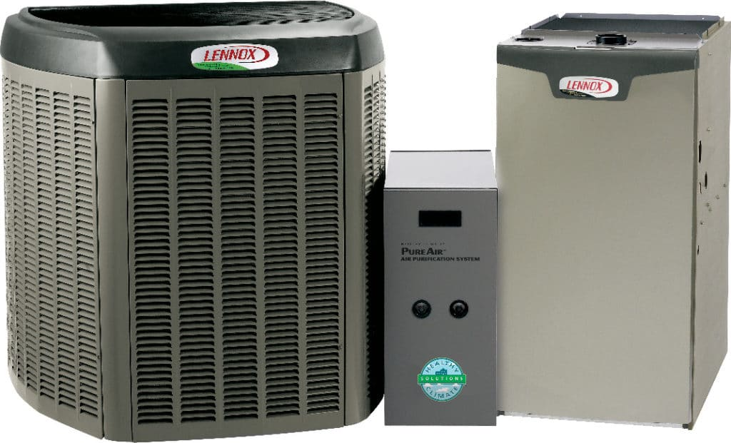 A picture of assorted Lennox equipment.