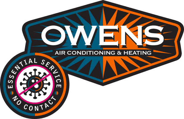 "Owens Logo with ""essential service - no contact"" badge added"